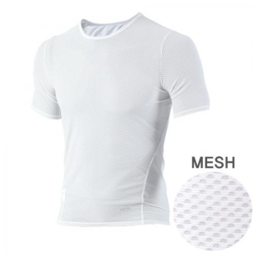 Mcn [MTS-KMESH]K-매쉬 반팔 티셔츠 화이트