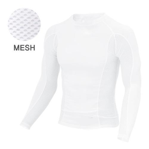 Mcn [MTL018-SKMESH(WHITE)]매쉬&아이스터치 긴팔 상의 화이트