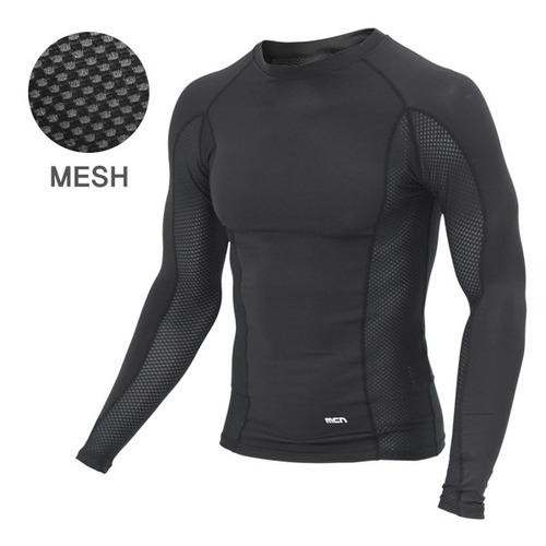 Mcn [MTL018-SKMESH(BLACK)]매쉬&아이스터치 긴팔 상의 블랙