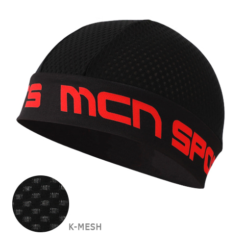 Mcn [SKULL CAP KMESH BK&RD]K-매쉬 스컬캡-블랙&레드