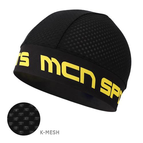 Mcn [SKULL CAP KMESH BK&YL]K매쉬 스컬캡-블랙&옐로