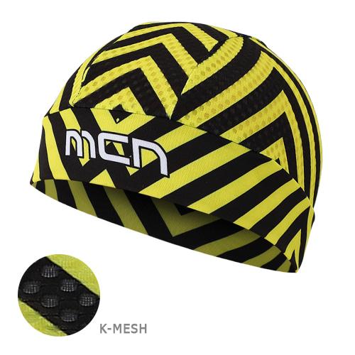 Mcn [SKULL CAP KMESH YELLOW STRIPE]K-매쉬 스컬캡-옐로우 스트라이프