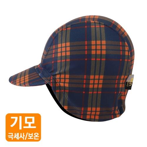 Mcn [WARM CAP-ORANGE CHECK]방한 사이클링캡-오렌지체크
