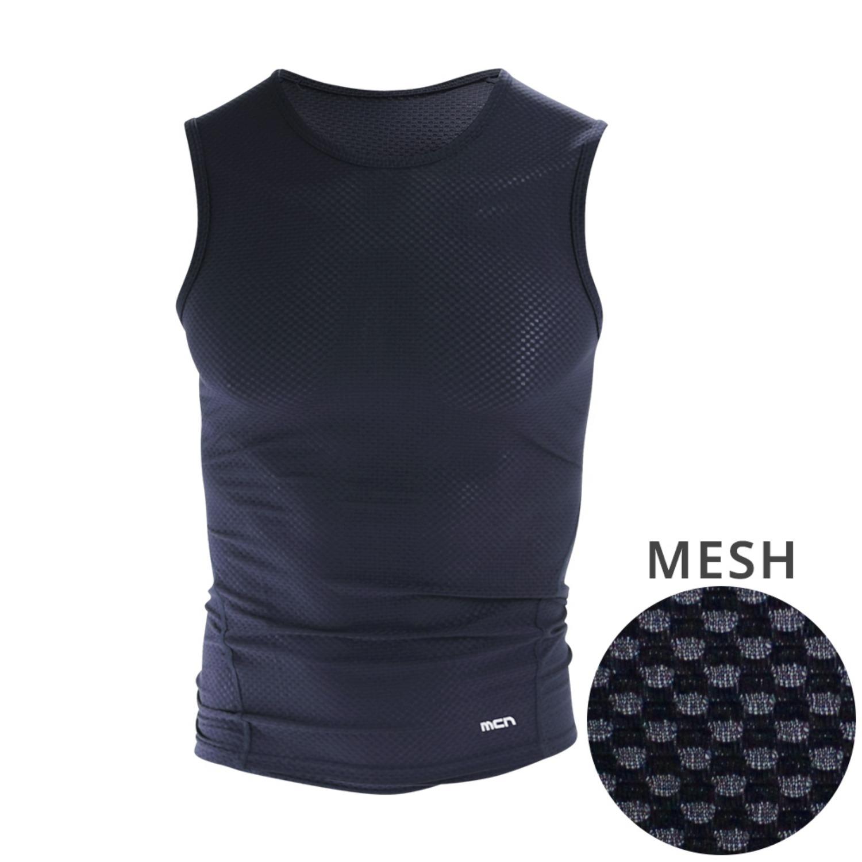 Mcn K-매쉬 민소매 티셔츠 네이비