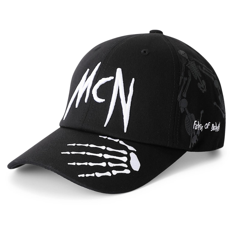 Mcn 네크로노미카 블랙 볼캡 모자