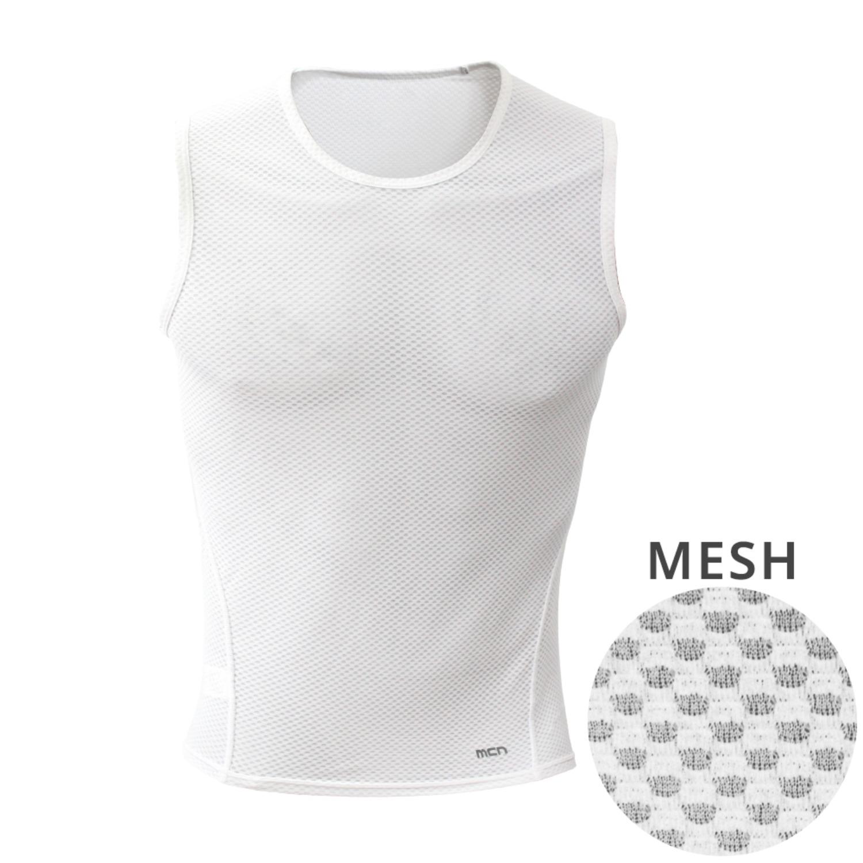Mcn K-매쉬 민소매 티셔츠 화이트
